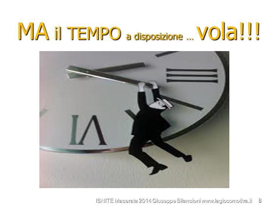 MA il TEMPO a disposizione … vola!!! ISNITE Macerata 2014 Giuseppe Bilancioni www.lagiocomotiva.it 8