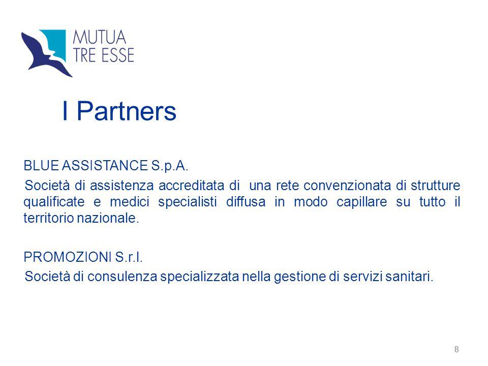 8 8 BLUE ASSISTANCE S.p.A. Società di assistenza accreditata di una rete convenzionata di strutture qualificate e medici specialisti diffusa in modo c