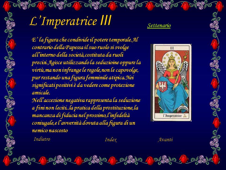 XIIII La Temperanza XIIII La Temperanza riassume in sé gli atttributi delle virtù demioetiche,colloca fra due opposti gli stati d'animo e si propone quale mediatrice e moderatrice degli eccessi.