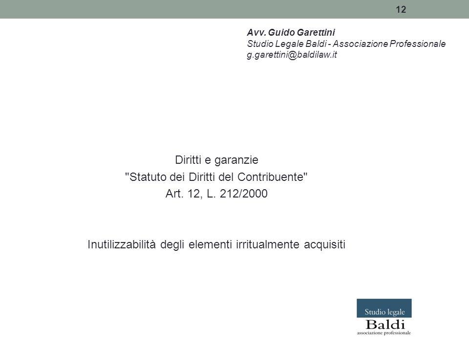 12 Diritti e garanzie