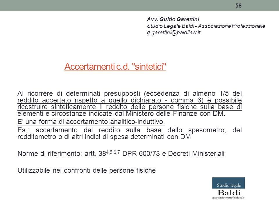 58 Accertamenti c.d.