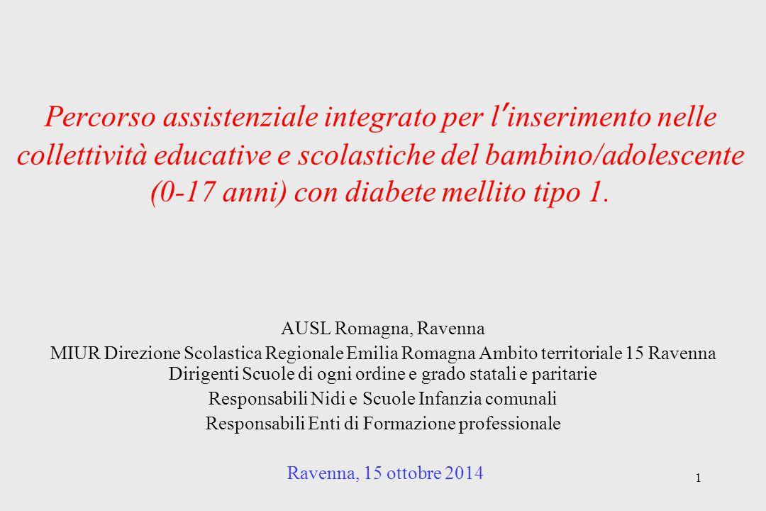 1 Percorso assistenziale integrato per l'inserimento nelle collettività educative e scolastiche del bambino/adolescente (0-17 anni) con diabete mellit