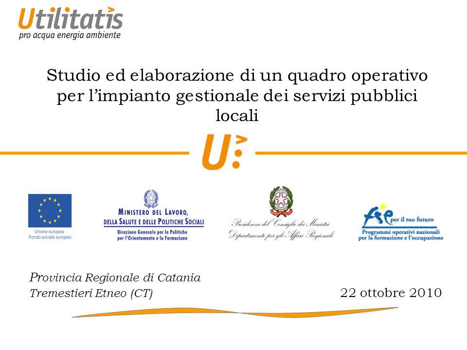 22/10/2010 32 Contabilità di settore e posizionamento del panel (2) Mediterranea delle Acque - Genova SMAT - Torino