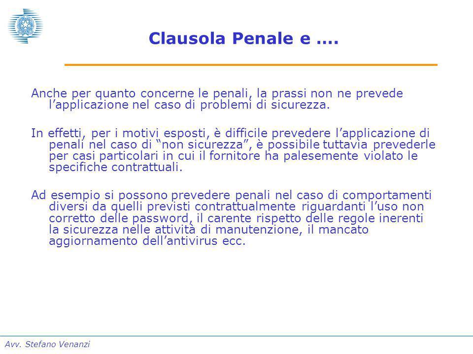 Avv. Stefano Venanzi Clausola Penale e ….