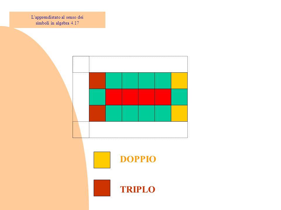 DOPPIO TRIPLO L'apprendistato al senso dei simboli in algebra 4.17