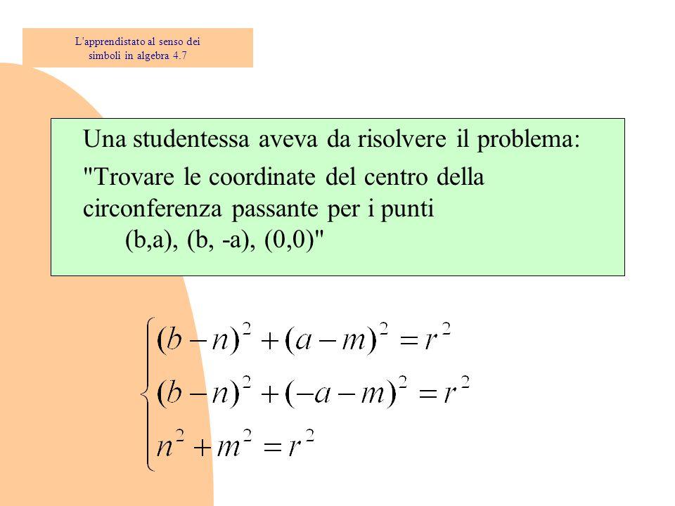 DOPPIO TRIPLO L apprendistato al senso dei simboli in algebra 4.17
