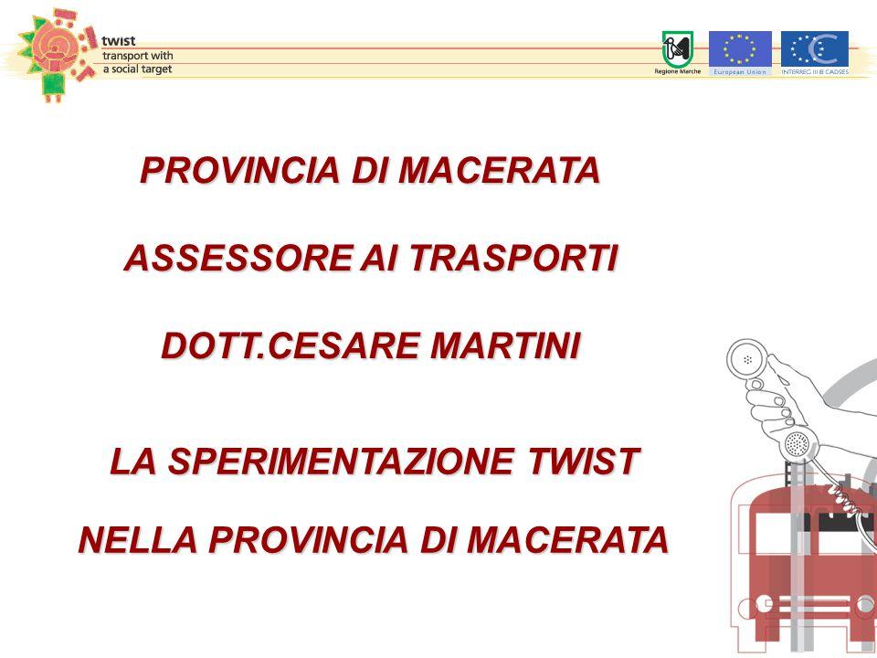 1.STATO DELL'ARTE DEL TRASPORTO PUBBLICO LOCALE NELLA PROVINCIA DI MACERATA 2.