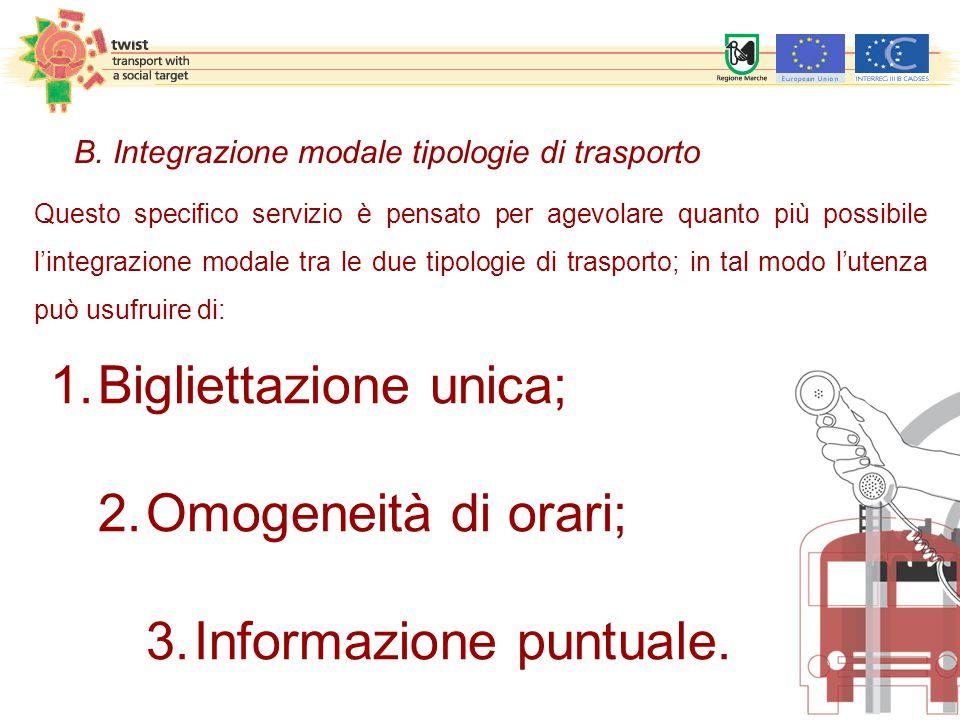 Questo specifico servizio è pensato per agevolare quanto più possibile l'integrazione modale tra le due tipologie di trasporto; in tal modo l'utenza può usufruire di: 1.Bigliettazione unica; 2.Omogeneità di orari; 3.Informazione puntuale.