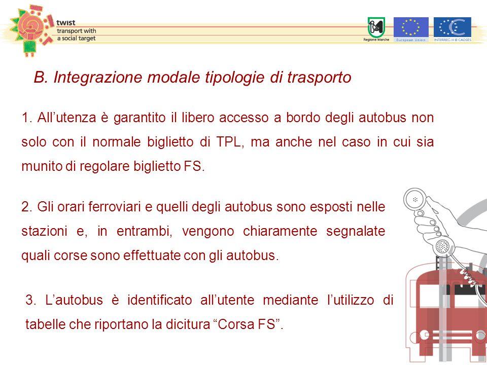 """3. L'autobus è identificato all'utente mediante l'utilizzo di tabelle che riportano la dicitura """"Corsa FS"""". 1. All'utenza è garantito il libero access"""