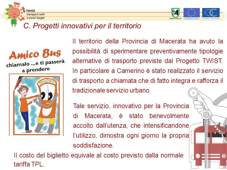 Tale servizio, innovativo per la Provincia di Macerata, è stato benevolmente accolto dall'utenza, che intensificandone l'utilizzo, dimostra ogni giorno la propria soddisfazione.