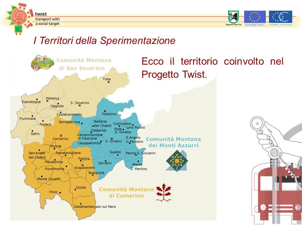 Ecco il territorio coinvolto nel Progetto Twist. I Territori della Sperimentazione