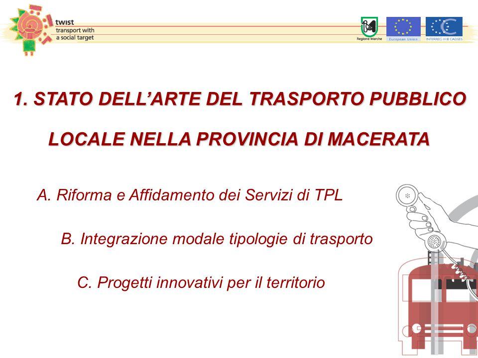 1. STATO DELL'ARTE DEL TRASPORTO PUBBLICO LOCALE NELLA PROVINCIA DI MACERATA A.