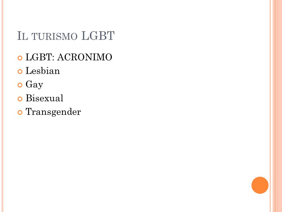 LGBT: ACRONIMO Lesbian Gay Bisexual Transgender