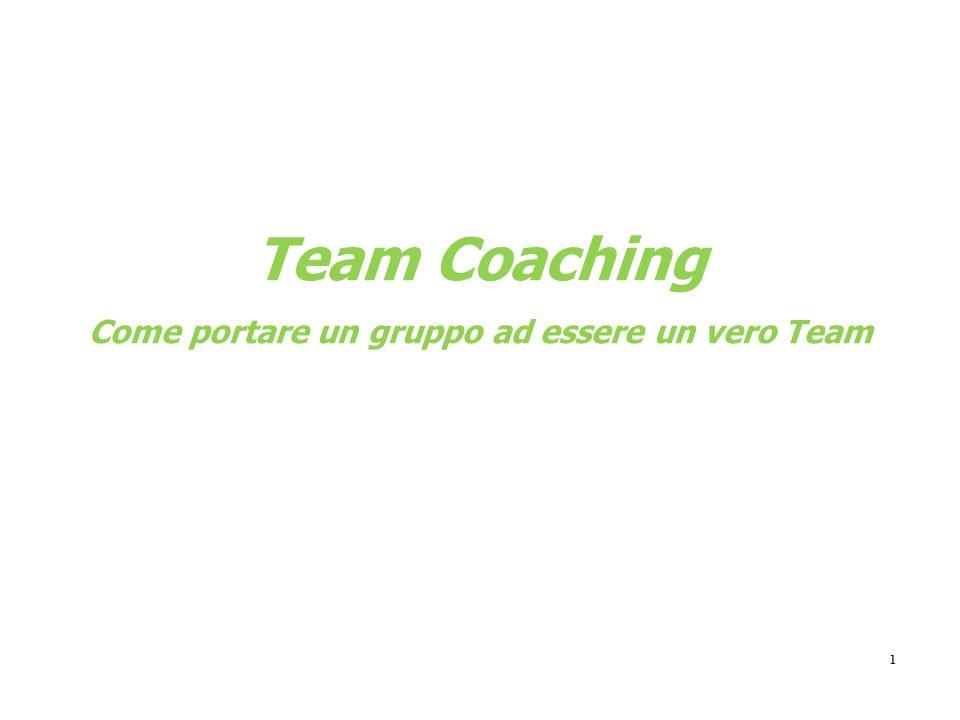 1 Team Coaching Come portare un gruppo ad essere un vero Team