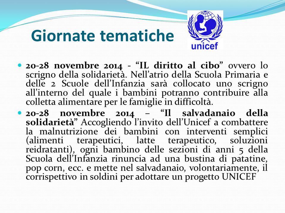 20-28 novembre 2014 - IL diritto al cibo ovvero lo scrigno della solidarietà.