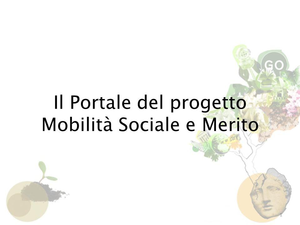 Il Portale del progetto Mobilità Sociale e Merito 1