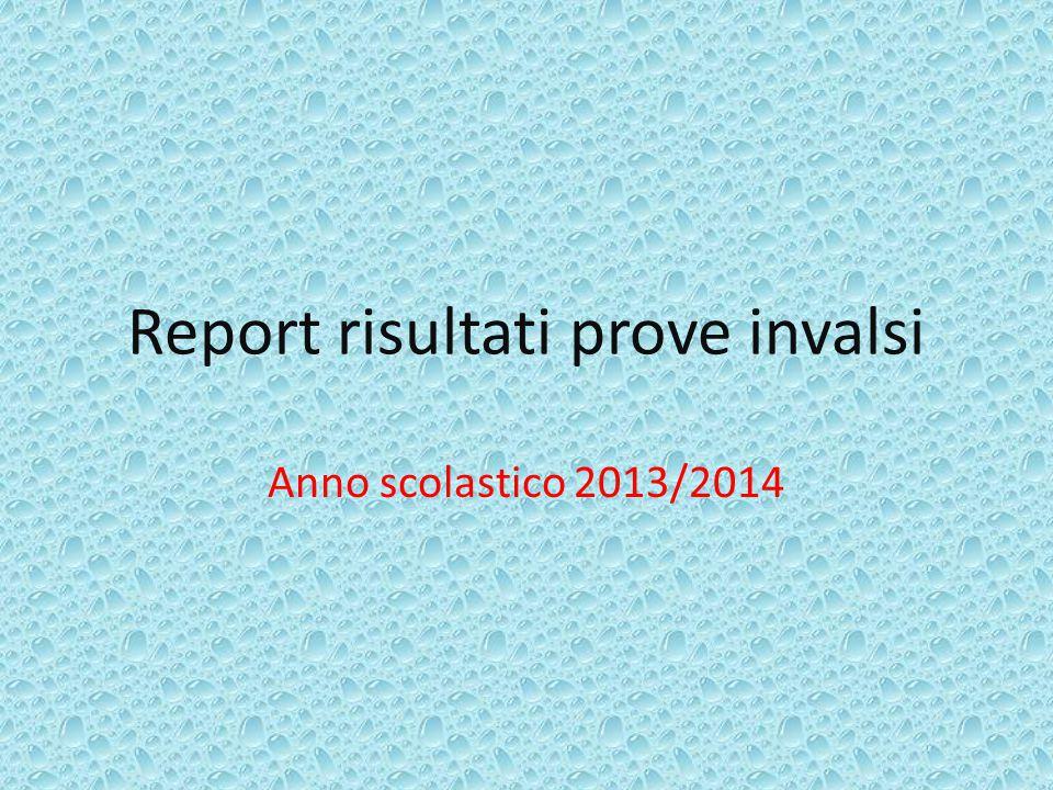 Report risultati prove invalsi Anno scolastico 2013/2014