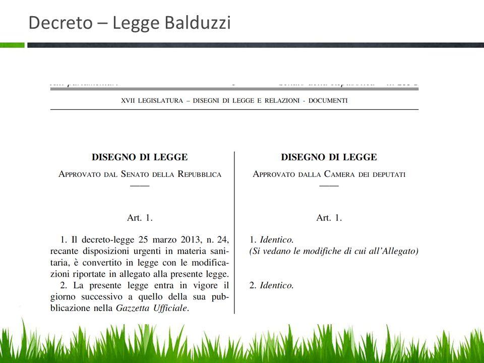 Decreto – Legge Balduzzi