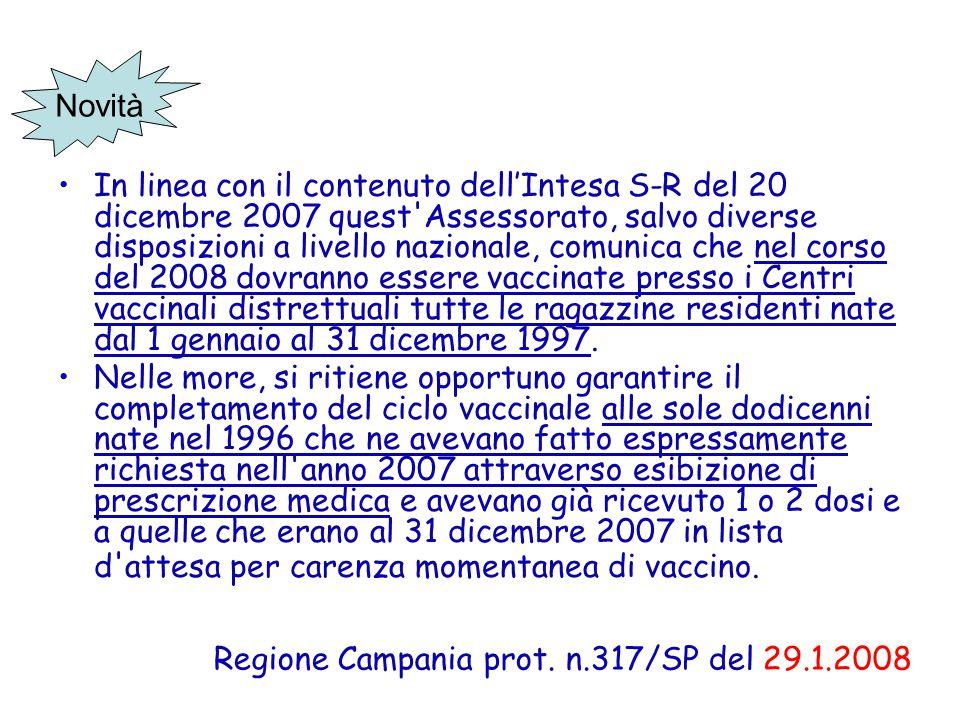 In linea con il contenuto dell'Intesa S-R del 20 dicembre 2007 quest'Assessorato, salvo diverse disposizioni a livello nazionale, comunica che nel cor