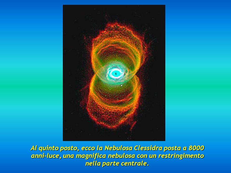 Al quarto posto, possiamo riconoscere l'impressionante Nebulosa dell'Occhio di Gatto