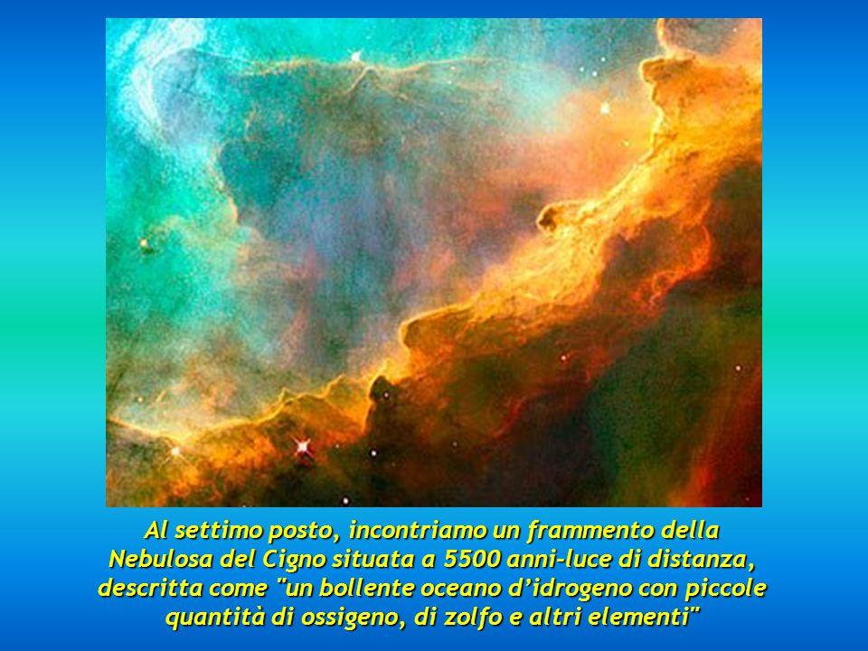 Al sesto posto vediamo la Nebulosa del Cono, a 2.5 anni-luce Al sesto posto vediamo la Nebulosa del Cono, a 2.5 anni-luce