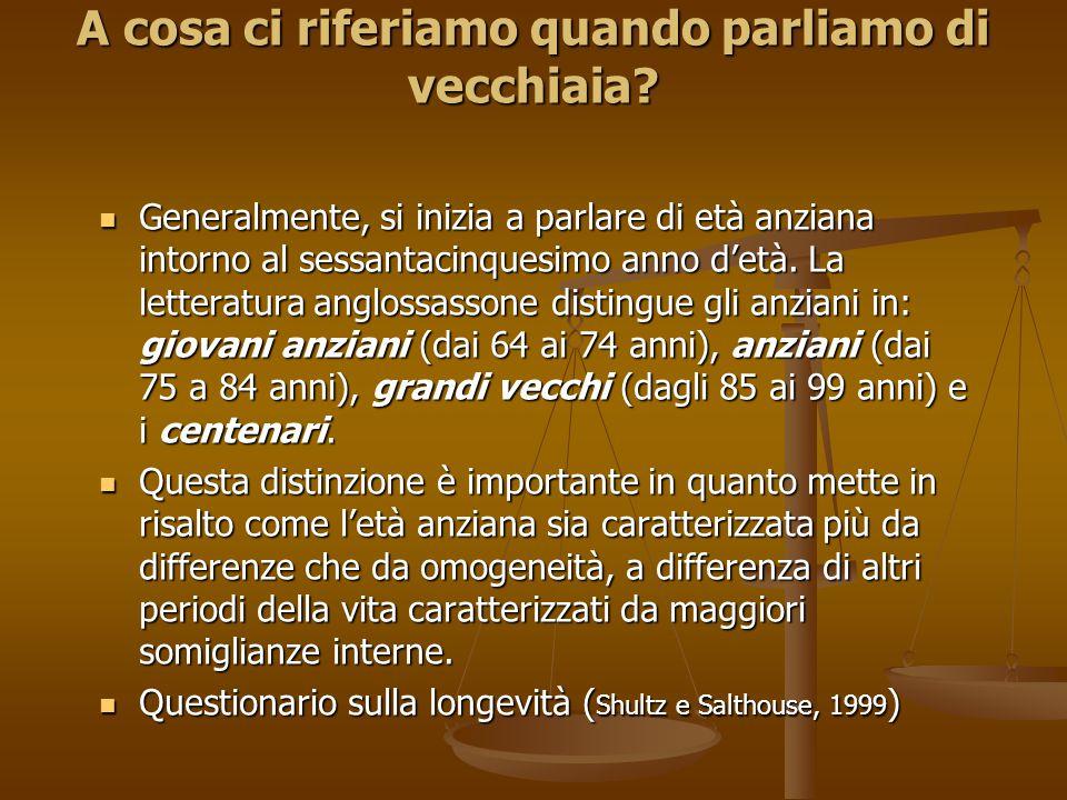 Come ha sostenuto Tamanza (2001), questa classificazione si basa esclusivamente su fattori quantitativi senza tener conto, minimamente di quelli qualitativi che possono influire sulla qualità di vita dell'anziano.