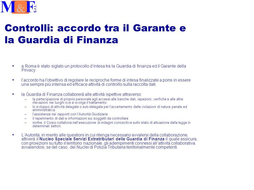 Controlli: accordo tra il Garante e la Guardia di Finanza wa Roma è stato siglato un protocollo d'intesa tra la Guardia di finanza ed il Garante della Privacy.