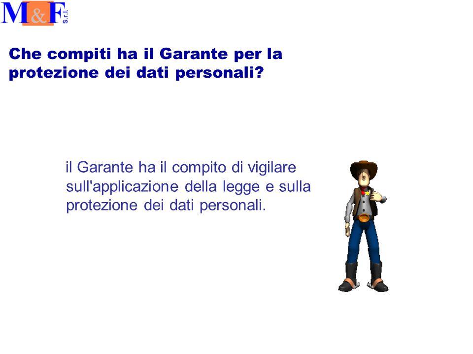 Che compiti ha il Garante per la protezione dei dati personali.