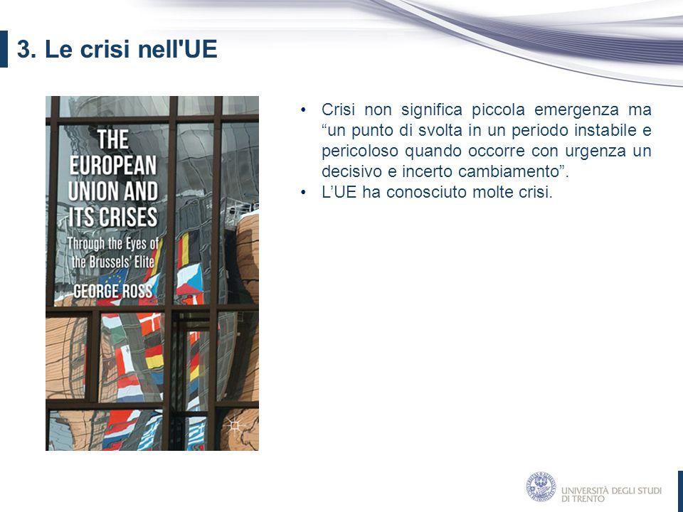 """Crisi non significa piccola emergenza ma """"un punto di svolta in un periodo instabile e pericoloso quando occorre con urgenza un decisivo e incerto cam"""