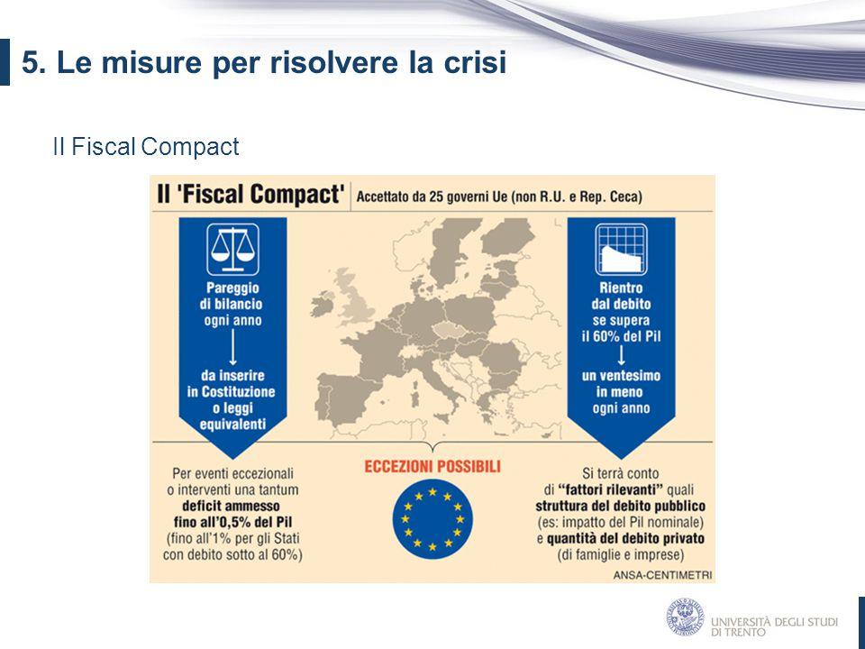 Il Fiscal Compact 5. Le misure per risolvere la crisi