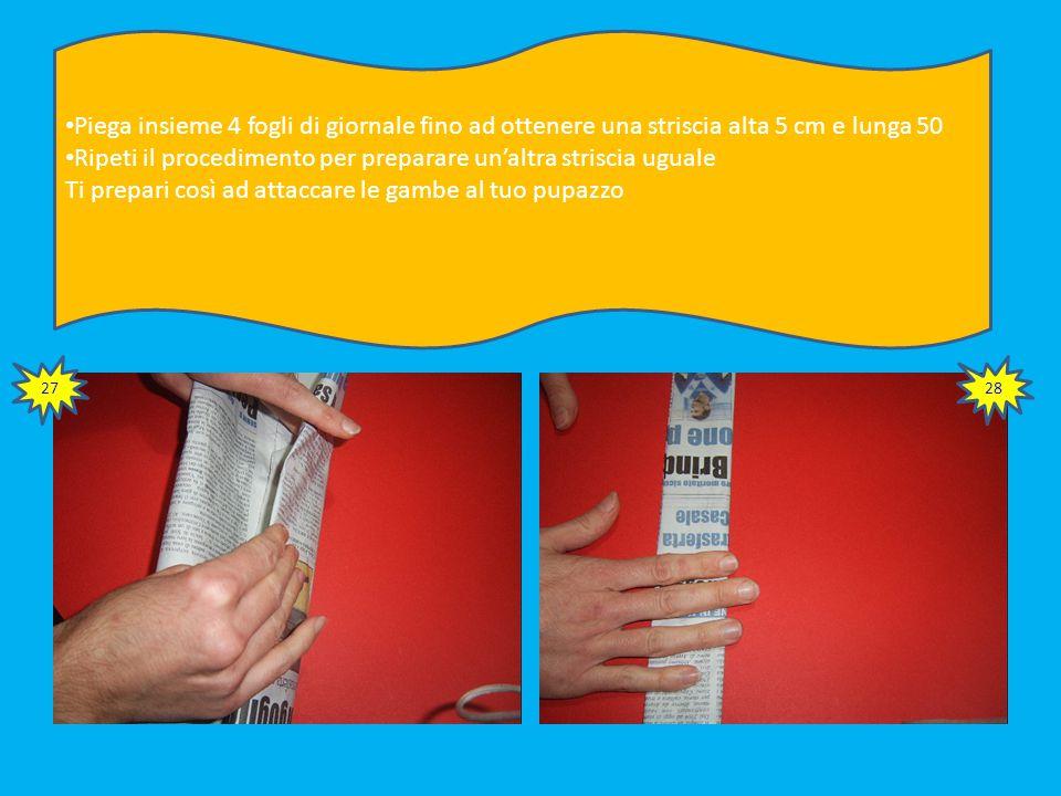 Fissa la prima sagoma al braccio destro. Figura n. 25 Sovrapponi la seconda sagoma e fissa con nastro adesivo. Figura n. 26 Ripeti l'operazione per l'