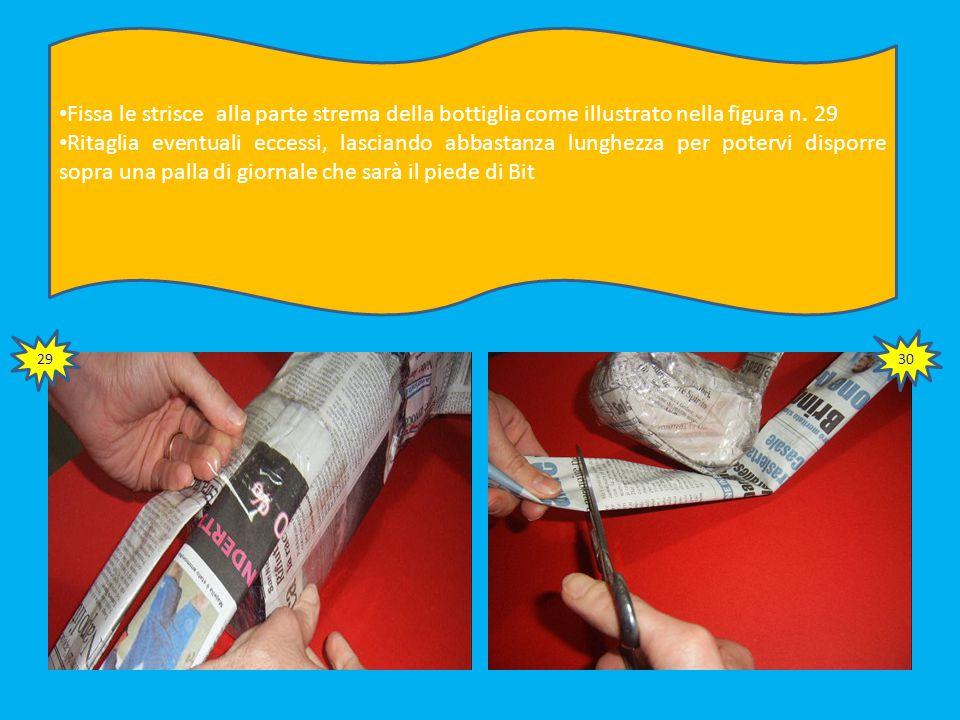 Piega insieme 4 fogli di giornale fino ad ottenere una striscia alta 5 cm e lunga 50 Ripeti il procedimento per preparare un'altra striscia uguale Ti prepari così ad attaccare le gambe al tuo pupazzo 27 28