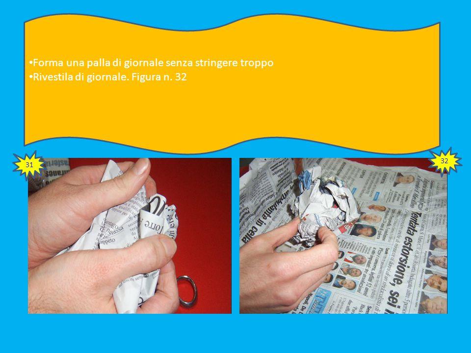 Fissa le strisce alla parte strema della bottiglia come illustrato nella figura n. 29 Ritaglia eventuali eccessi, lasciando abbastanza lunghezza per p