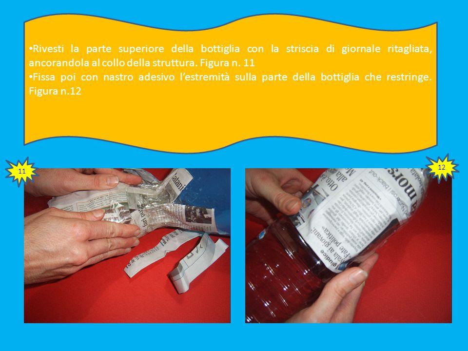 Forma una palla di giornale senza stringere troppo Rivestila di giornale. Figura n. 32 31 32