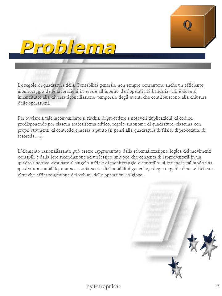 by Europulsar2 Problema Le regole di quadratura della Contabilità generale non sempre consentono anche un efficiente monitoraggio delle lavorazioni in
