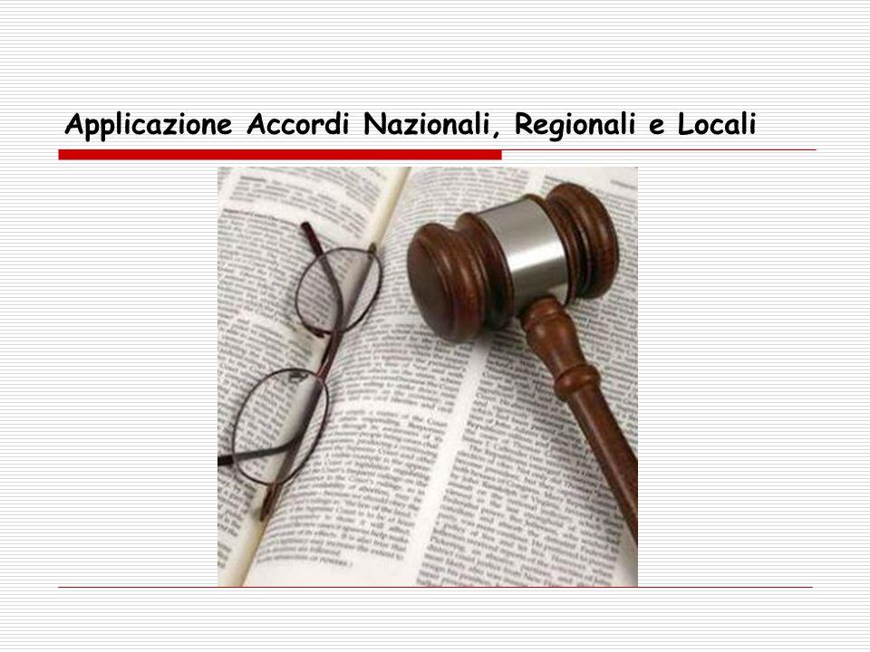 Applicazione Accordi Nazionali, Regionali e Locali