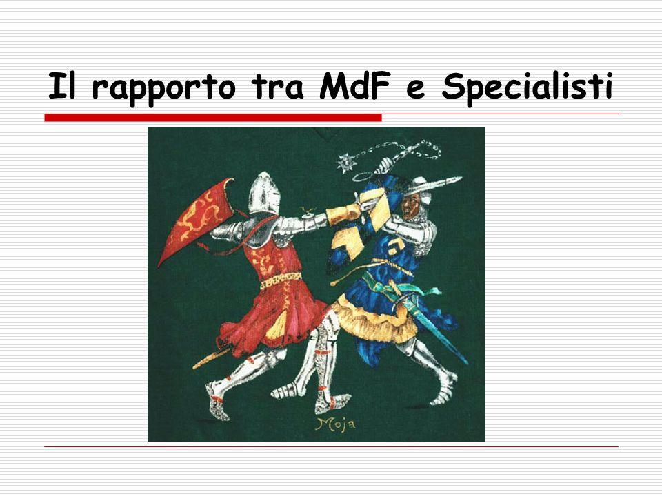 Il rapporto tra MdF e Specialisti