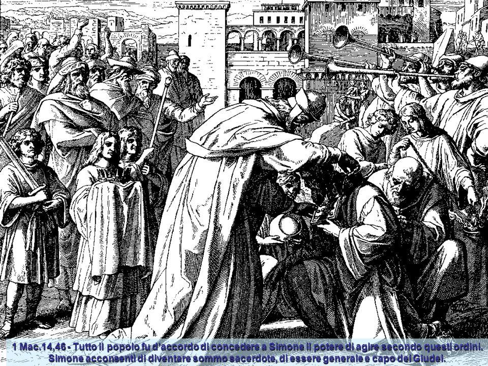 1 Mac. 4 - Giuda vince Gorgia. Gli uomini di Gorgia, videro i Giudei venire contro di loro, si mossero dal campo per attaccar battaglia. I Giudei suon