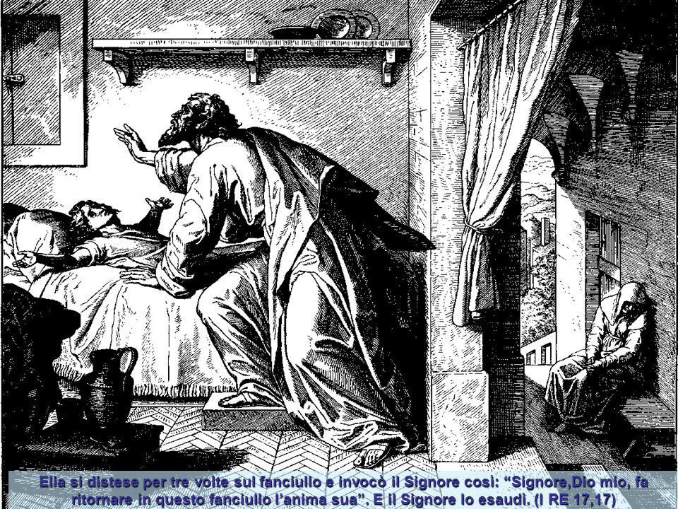 Elia come gli disse il Signore si stabilì vicino al torrente Carit, i corvi gli portavano il pane al mattino e la carne la sera e si dissetava al torr