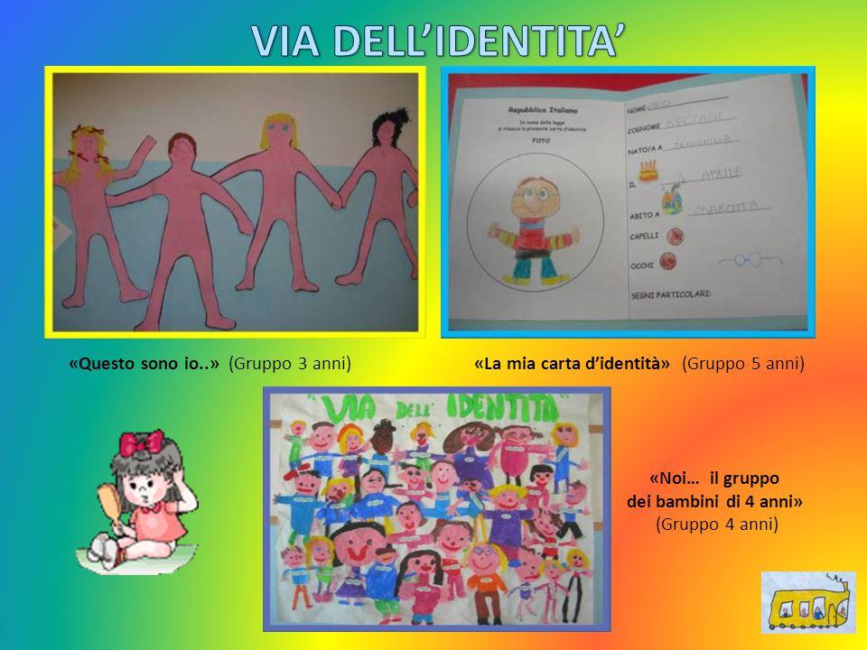 «Questo sono io..» (Gruppo 3 anni) «La mia carta d'identità» (Gruppo 5 anni) «Noi… il gruppo dei bambini di 4 anni» (Gruppo 4 anni)