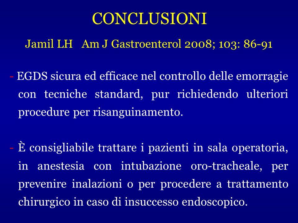 - EGDS sicura ed efficace nel controllo delle emorragie con tecniche standard, pur richiedendo ulteriori procedure per risanguinamento. - È consigliab