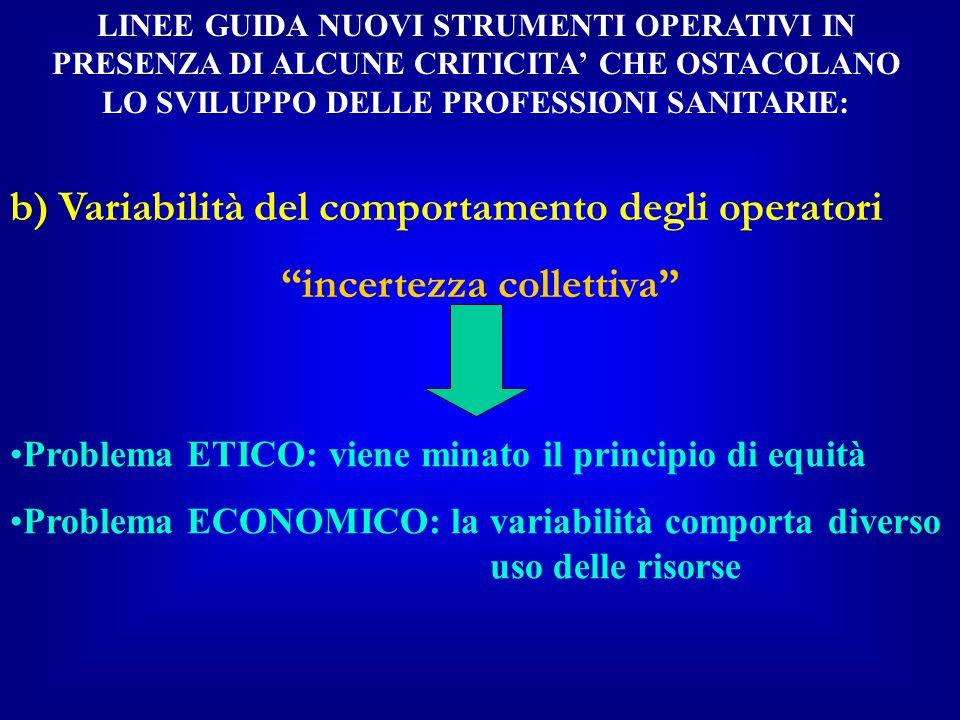 Regione Friuli-V.G.: Piano Sanitario Regionale 2000-2002 Il modello dell'Area di Emergenza è di natura Dipartimentale e pone come prioritaria la creazione di protocolli diagnostico terapeutici verificati ed aggiornati, in grado di favorire l'integrazione di competenze e risorse, con l'apporto e nel rispetto delle specifiche competenze professionali, cliniche, assistenziali e gestionali….