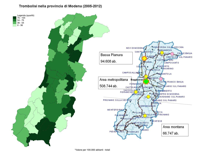 Trombolisi nella provincia di Modena (2005-2012)