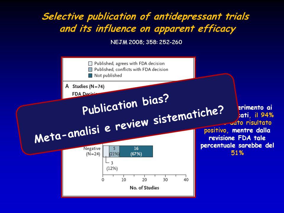 Facendo riferimento ai lavori pubblicati, il 94% avrebbe dato risultato positivo, mentre dalla revisione FDA tale percentuale sarebbe del 51% Selectiv