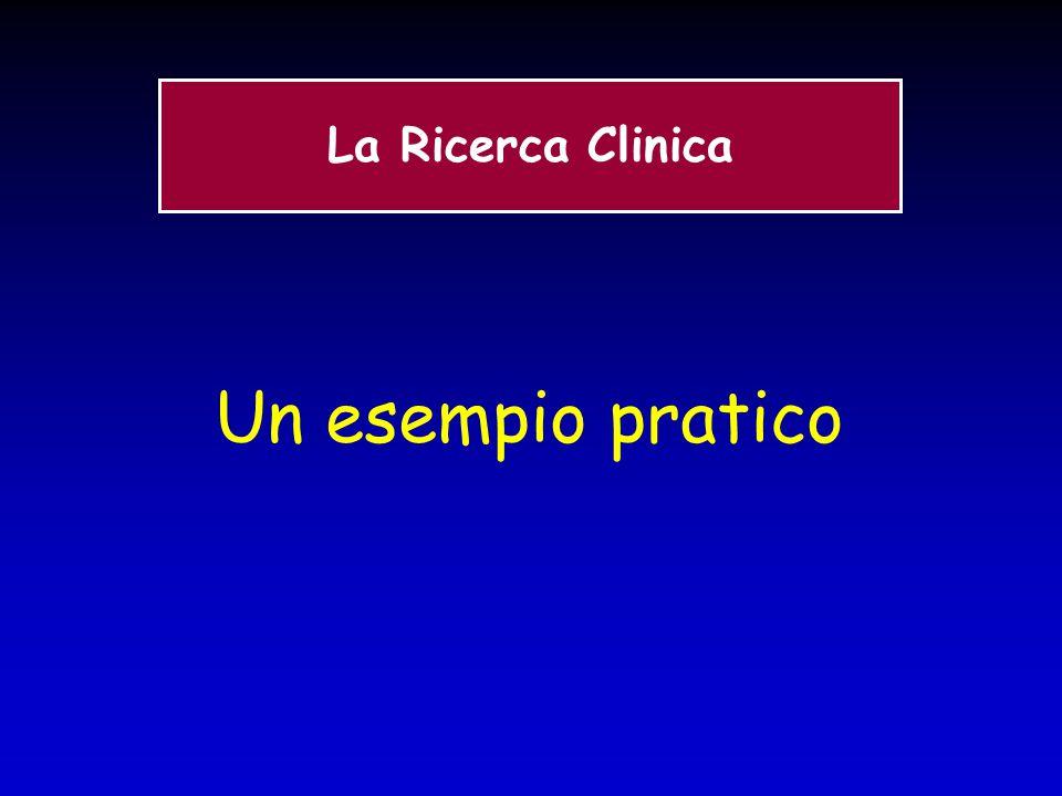 Un esempio pratico La Ricerca Clinica