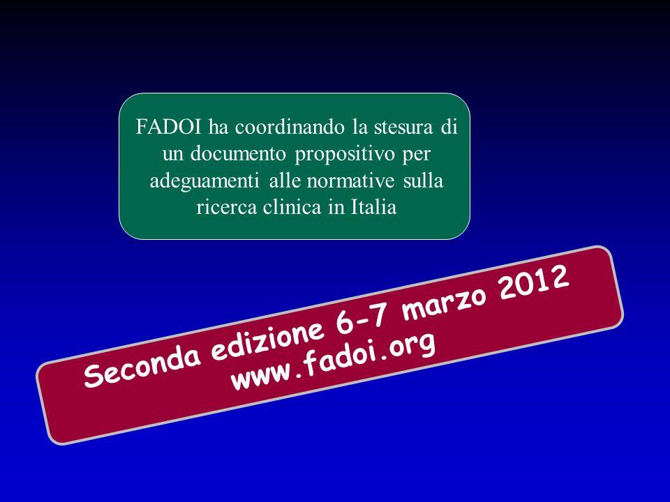 FADOI ha coordinando la stesura di un documento propositivo per adeguamenti alle normative sulla ricerca clinica in Italia Seconda edizione 6-7 marzo