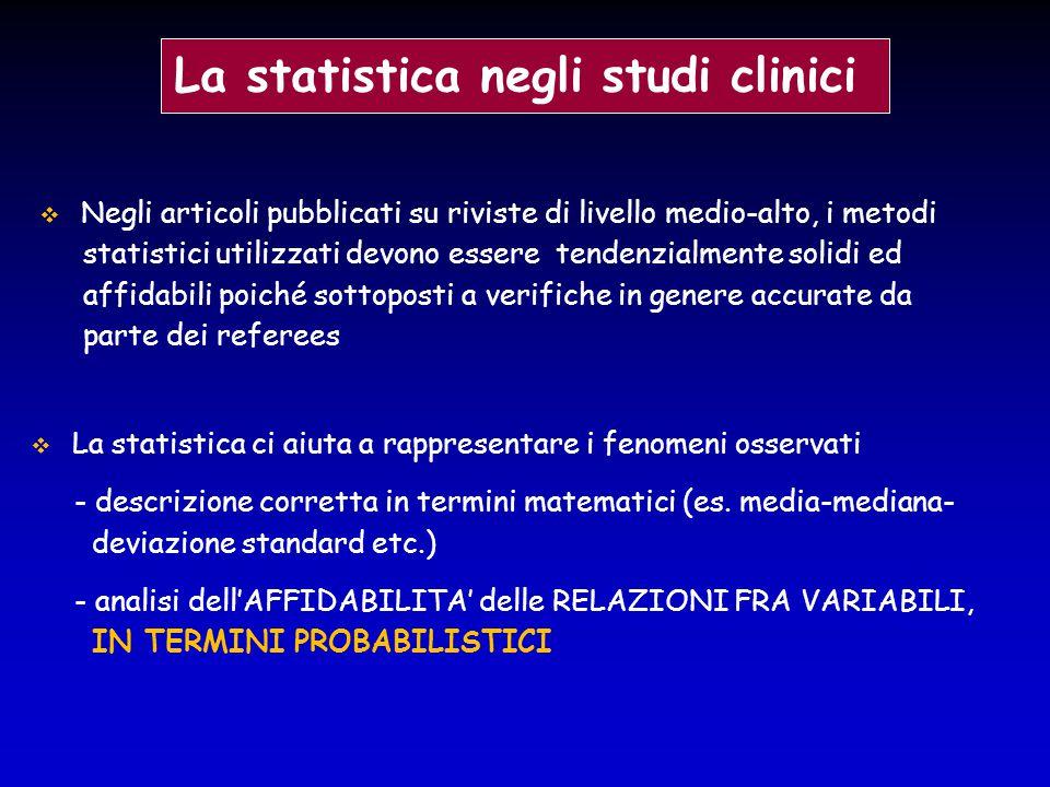  Negli articoli pubblicati su riviste di livello medio-alto, i metodi statistici utilizzati devono essere tendenzialmente solidi ed affidabili poiché
