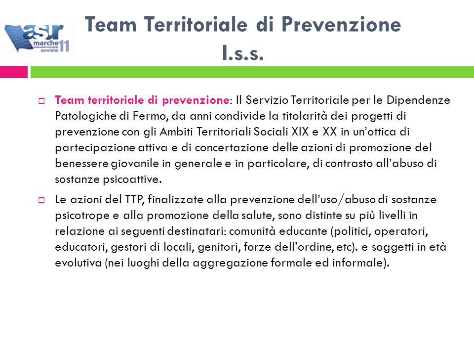 Team Territoriale di Prevenzione I.s.s.