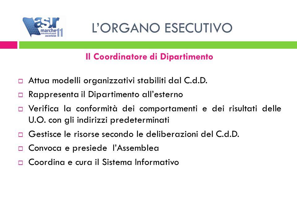Il Coordinatore di Dipartimento  Attua modelli organizzativi stabiliti dal C.d.D.