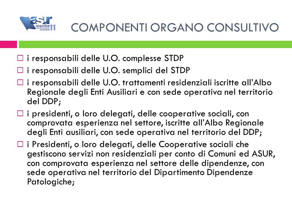 i responsabili delle U.O. complesse STDP  i responsabili delle U.O.